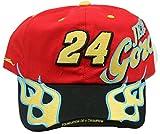 NASCAR Jeff Gordon #24 Full Flames on Bill Adjustable Adult Men's Cap Hat