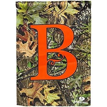 This Item Monogram Garden Flag Letter: B
