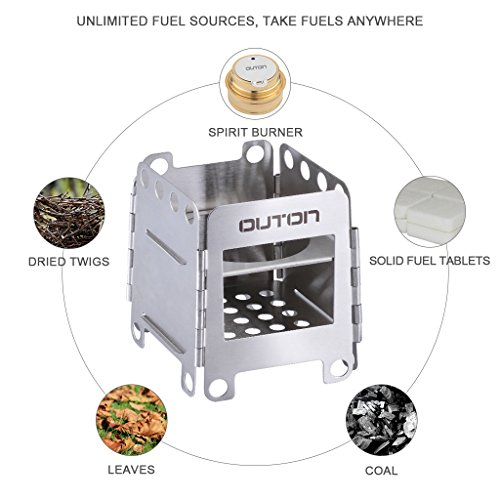 Outon Portable Camping Wood Stove Folding Lightweight