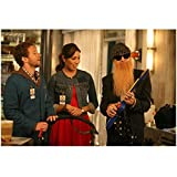Bones T.J. Thyne as Dr. Hodgins Holding Stroller Handle and Michaela Conlin as Angela Montenegro Hands Held and Billy Gibbons as Angela's Dad Playing Toy Guitar 8 x 10 Photo