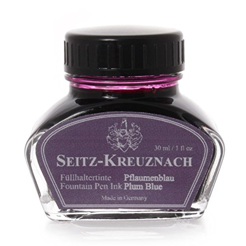 Seitz-Kreuznach Fountain pen ink Plum Blue, 1 fl oz (Ink Plum)