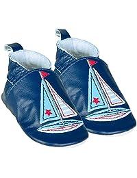JoJo Maman Bebe Baby Boys' Nautical Booties (Baby) - Navy