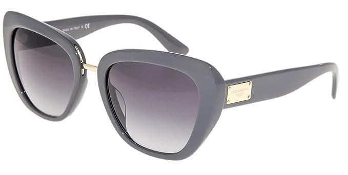 8450fb716fb Image Unavailable. Image not available for. Colour  Dolce   Gabbana  Authentic Sunglasses DG4296 Grey w Grey Gradient Lens 30908G DG 4296 (