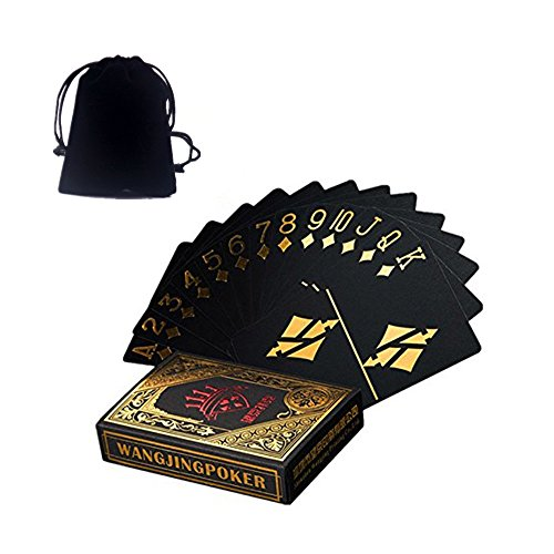 Vitality Life 55pcs/deck Waterproof Pvc Plastic Poker Cards Set Durable Collection Playing Cards Deck Magic Pokers Send velvet storage bag