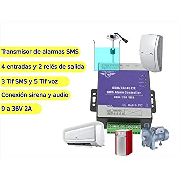 Jandei - Transmisor alarma por SMS 4 entradas 1 salida ...