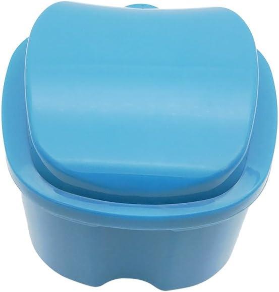 ULTNICE Caja de baño para dentadura postiza Caja de baño para ...