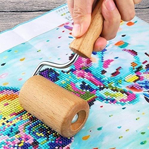 Clearance Sale!DEESEE(TM)5D Diamond Painting Tool Set Wood Roller DIY Diamond Painting Accessories for Diamond Painting Wood Roller -