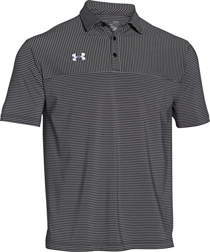 Under Armour Mens Clubhouse Polo (Black/White, L)