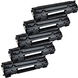 5 Inkfirst® Toner Cartridges CF283A (83A) Compatible Remanufactured for HP CF283A Black LaserJet Pro M201dw M201n MFP M225dn MFP M225dw MFP M127fn MFP M127fw MFP M125a MFP M125rnw MFP M125nw