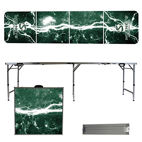 NCAA Sacramento State Hornets Lightning Version Folding Tailgate Table, 8' by Victory Tailgate