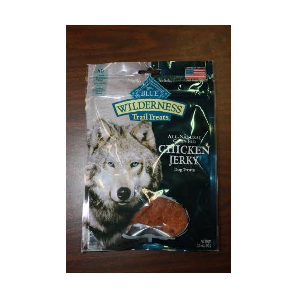 3 Bags - Blue Buffalo Wilderness Chicken Grain Free Dog Jerky Treats - Made in USA