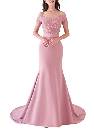 Special Bridal Womens Long Mermaid Dresses Beaded Evening Dress Sweetheart Satin Party Dress US2