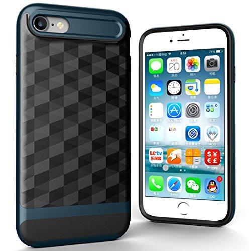 Protege tu iPhone, Para iPhone 7 3D diamante PC + TPU Combinación caso protector Para el teléfono celular de Iphone. ( Color : Negro ) Azul marinero