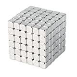 WESUN Magnetic Cube 216pcs Magnets Blocks Magnetic Sculpture Holders Square Cube Children's Puzzle Magic Cubes DIY Educational Toys for Kids (3MM)