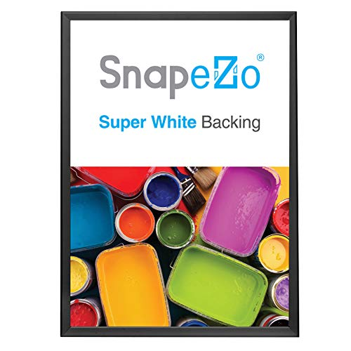 SnapeZo Poster Frame A1 Size (23.4 x 33.1 inches), Black, 1.25 Inch Aluminum Profile, Front-Loading Snap Frame, Wall…
