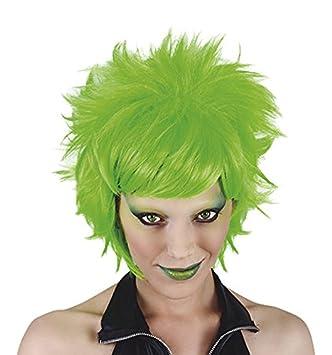 Funny Costumes - Peluca Crazy, adulto, color neón verde, talla única (Rubies