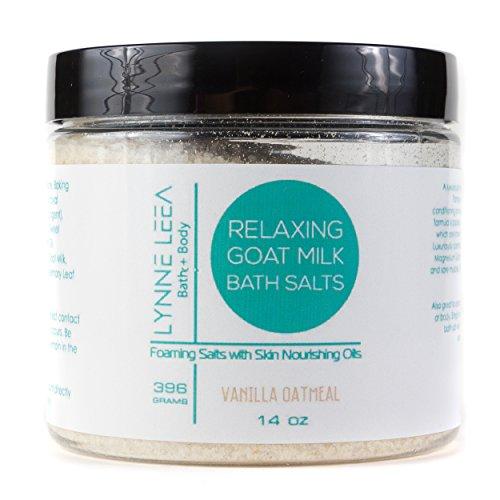 All Natural Goat Milk Bath Soaking Salts- Vanilla Oatmeal - Skin Nourishing – for Relaxation, Detox, Dry Skin, Sore Muscles Lynne Leea (Milk Oat Bath)