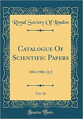 Libros En Para Descargar Catalogue Of Scientific Papers, Vol. 18: 1884-1900; Q-s Epub Gratis No Funciona