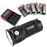 thrunite package - ThruNite MINI TN30 3660 Lumens 3Cree XP-L V6 LEDs Torch Sustainable Turbo Mode 6-Mode with Memory Intelligent Temperature Control LED Flooder Flashlight (Combo CW)
