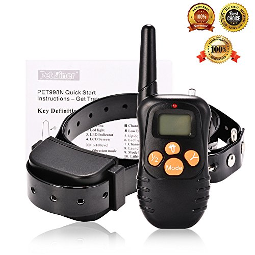 Harmless No Bark Dog Training Collar Rechargeable Waterproof Dog Collar Remote Control Dog Training Bark Stopper For Small, Medium & Large Dogs, 10 levels of Vibration, 2 Levels of Beep, 650 Ft Range (No Bark Dog Training Collar)