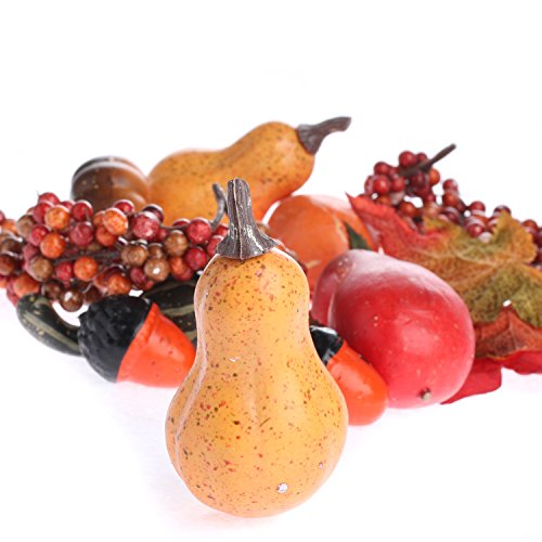 Factory Direct Craft Autumn Artificial Leaves, Gourds, & Pumpkins Table Decorations for Autumn, Fall and Thanksgiving Displays Fall Displays