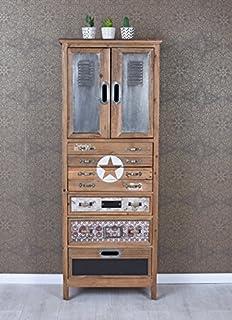 Kare Design Goa Schmale Hohe Kommode In Shabby Chic Vintage Optik
