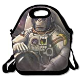 Funny Monkey Sunglasses Astronaut In Space Lunch Box Bag Lunch Tote Lunch Holder With Adjustable Strap For Kids And Adults For School Picnic Office Travel Outdoor School
