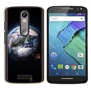 EJOOY---Cubierta de la caja de protección para la piel dura ** Motorola Moto X3 3rd Generation ** --Diseñar la Tierra desde el espacio