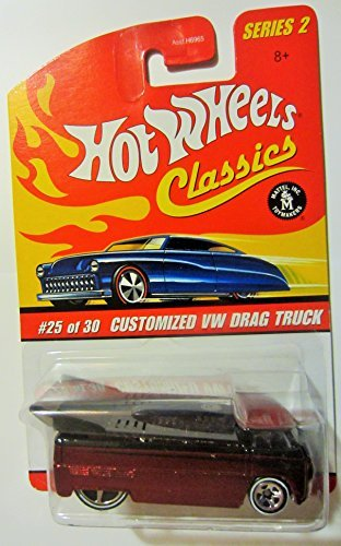 Hot Wheels Classics Series 2 Customized Red VW Drag Truck 25/30 Collector Car