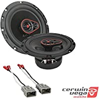 CERWIN-VEGA MOBILE H7653 HED(R) Series 3-Way Coaxial Speakers (6.5, 340 Watts max) Metra 72-7800 Speaker Connector Harnesses for Select Honda Vehicles
