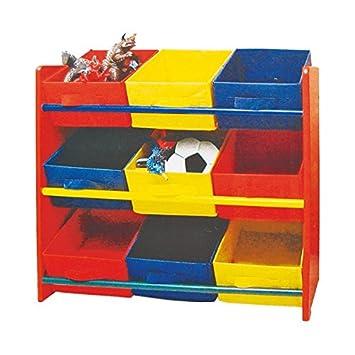 Kindermöbel regal  Kinderregal mit 9 Ablagen rot Kindermöbel Regal Kinderzimmer ...