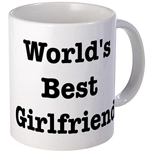 CafePress Worlds Best Girlfriend Mug Unique Coffee Mug, Coffee Cup (World's Best Girlfriend Mug)