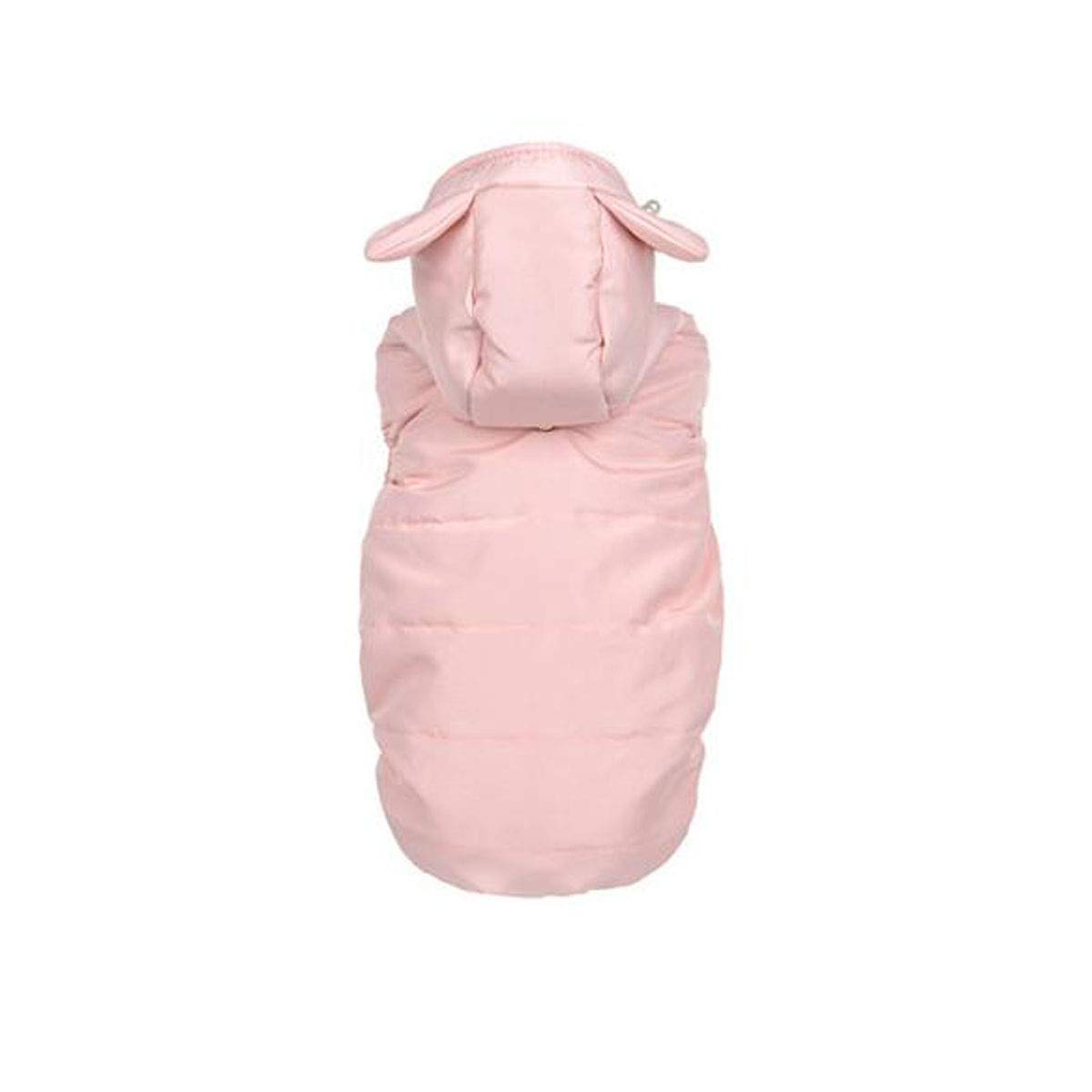 Pink S Pink S Pet Spring and Autumn Clothes, Small Dog Teddy Cotton Vest (color   Pink, Size   S)