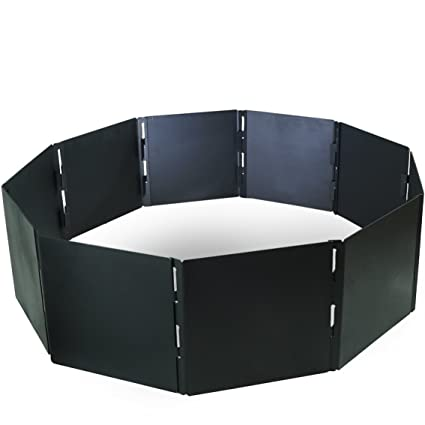 "Campfire Portable Fire Pit Ring 48"" Diameter 12 Panels Stackable Heavy Steel"