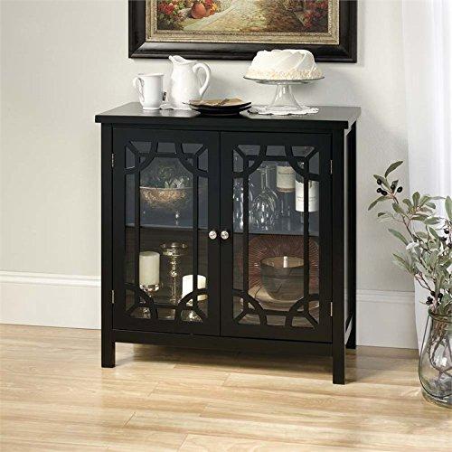 Sauder 420130 Display Cabinet, Black