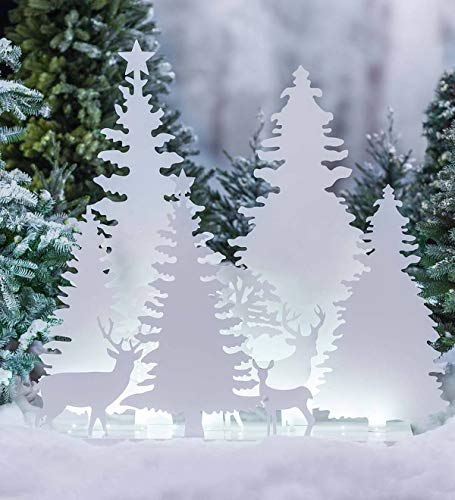 Lighted White Outdoor Nativity Scene in US - 7