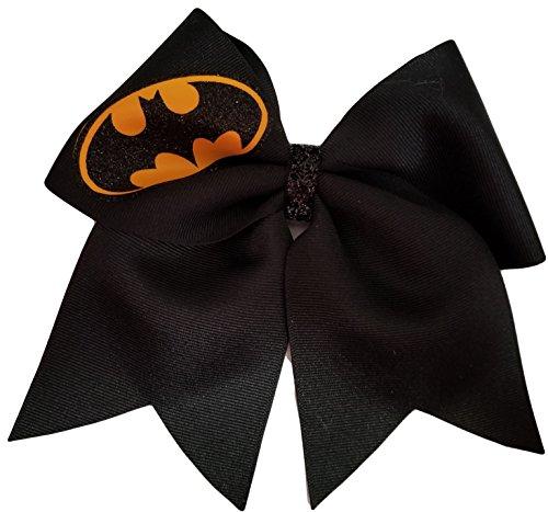Hair Hero Super Bow - Cheer BOws Black Batman Hair BOw