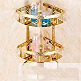 LAONA European zinc alloy, golden carved base, bathroom fittings, toilet paper rack, soap dish,Basket 2