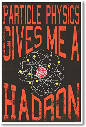 Particle Physics Gives Me A Hadron - NEW Classroom Science Physics Poster