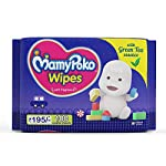 MamyPoko Pants Extra Absorb Diapers Monthly Pack, Small (Pack of 123) & MamyPoko Wipes with Green Tea Essence – Pack of…