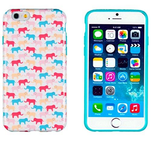 iPhone 6Cas, parfait Motif * * * * * * * * Sans Puce/sans patte Flexible * * * * * * * * Coque fine pour Apple iPhone 6(Écran 11,9cm)–[Colorful éléphants]
