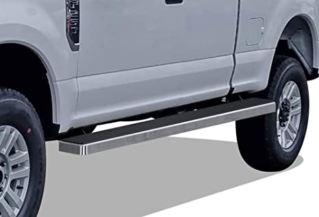 Wheel To Wheel Running Boards >> Aps Iboard Silver 5in Wheel To Wheel Running Boards Nerf Bars Side Steps Step Rails Compatible With 2015 2019 Ford F150 Super Cab 6 5ft Bed Pickup