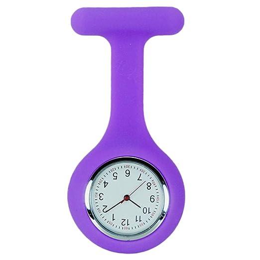 Broche De La Enfermera Reloj, Silicona con Pin/Clip, Diseño De Control De La Infección, Cuidado De La Salud Enfermera Médico Paramédico Médico Broche Fob ...