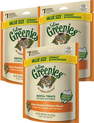 Greenies FELINE Dental Treats For Cats Savory Salmon Flavor