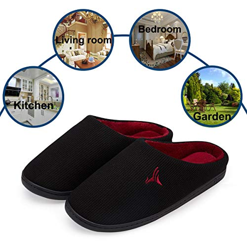 Pictures of VIFUUR Men's Indoor Memory Foam Slippers 3