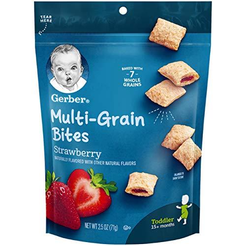 Bites Strawberry - Gerber Graduates Bitty Bites, Strawberry, 2.50oz Pouches, 4 Count