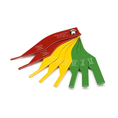 Steelman 97844 8-Piece Brake Lining Thickness Gauge: Automotive