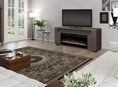 DIMPLEX Haley Media Console Electric Fireplace w/Sound bar - Rift Gray
