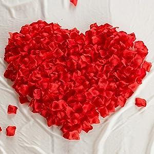 1000 Pcs Red Silk Rose Petals Artificial Flower Petals for Wedding Party Aisle Decor Decoration 51