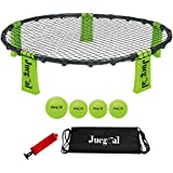 Juegoal Volleyball Spike Game Set Bounce Game Outdoor Game for Beach, Yard, Lawn, Tailgate